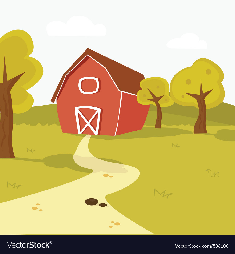 Farm barn vector | Price: 1 Credit (USD $1)