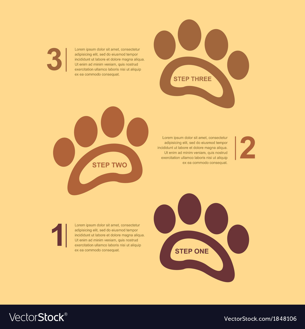 Footsteps infographic 2 vector | Price: 1 Credit (USD $1)