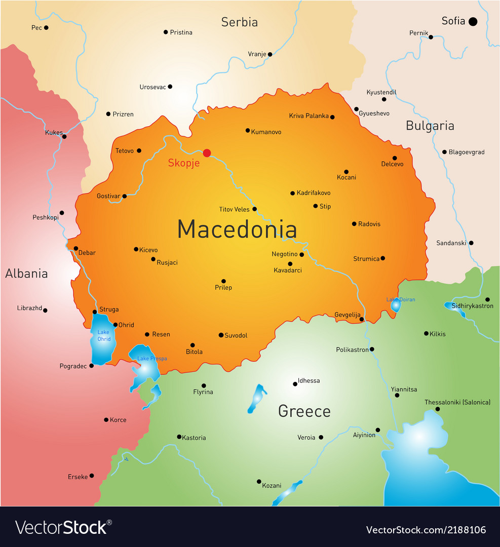 Macedonia vector | Price: 1 Credit (USD $1)