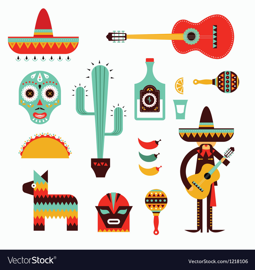 Mexico icons vector | Price: 3 Credit (USD $3)