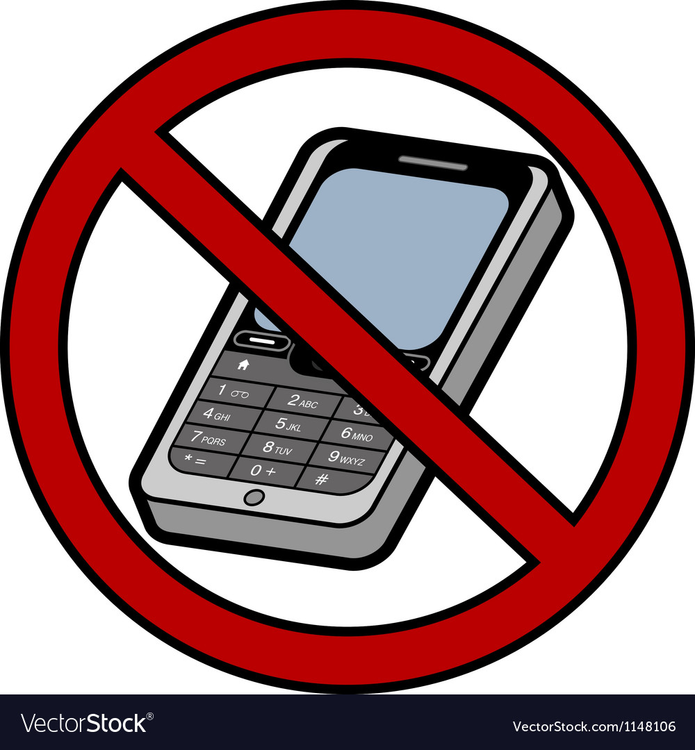 No mobile phones sign vector | Price: 1 Credit (USD $1)