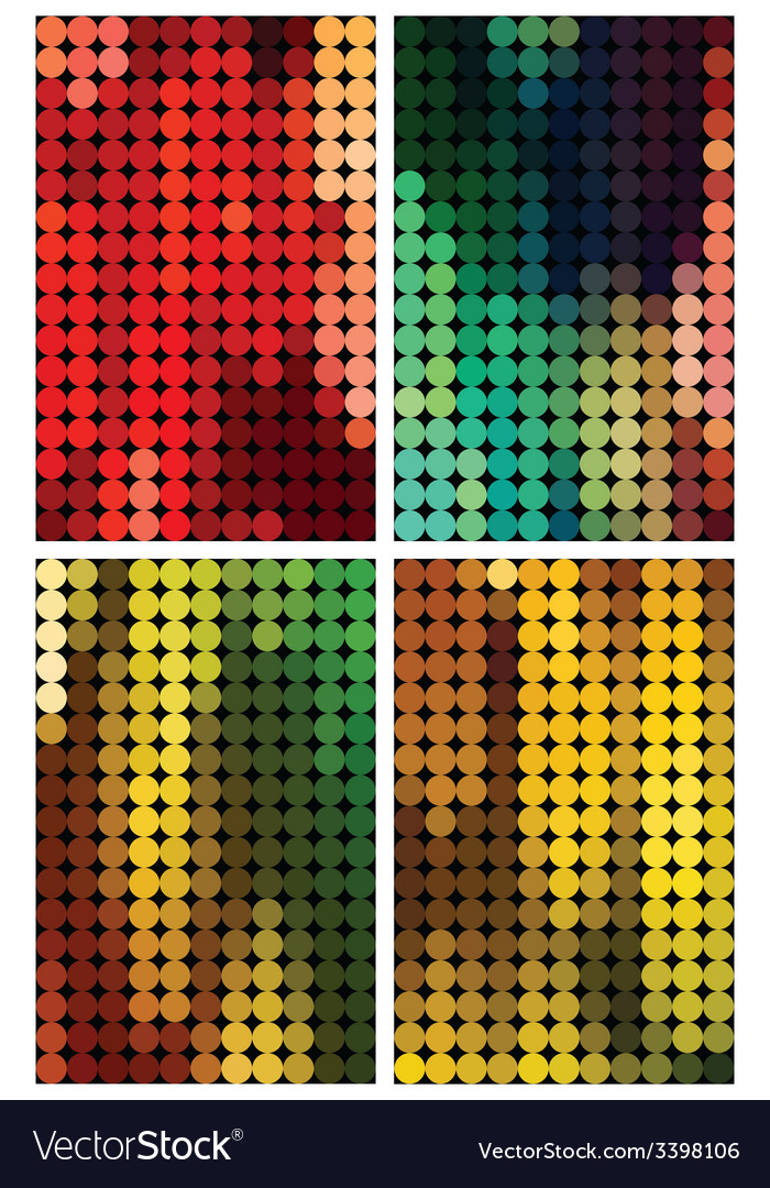 Set of four abstract backgrounds vector | Price: 1 Credit (USD $1)
