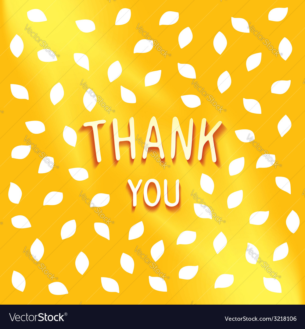 Sunny gentle wishes thank you vector | Price: 1 Credit (USD $1)