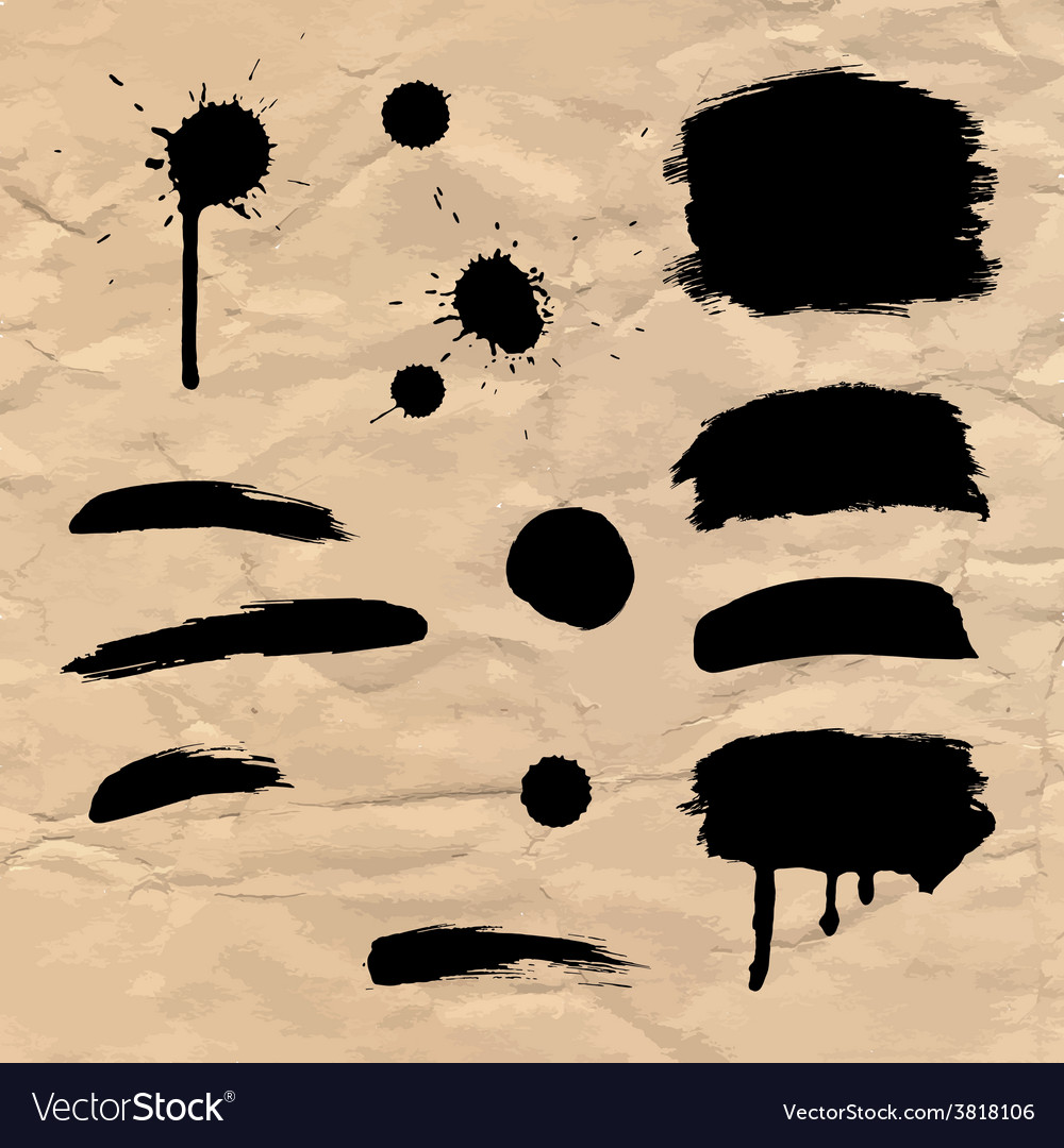 Watercolor paintbrush on the grunge paper texture vector   Price: 1 Credit (USD $1)