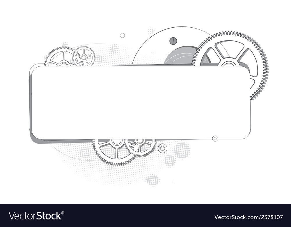 Abstract background of gears monochrome vector | Price: 1 Credit (USD $1)