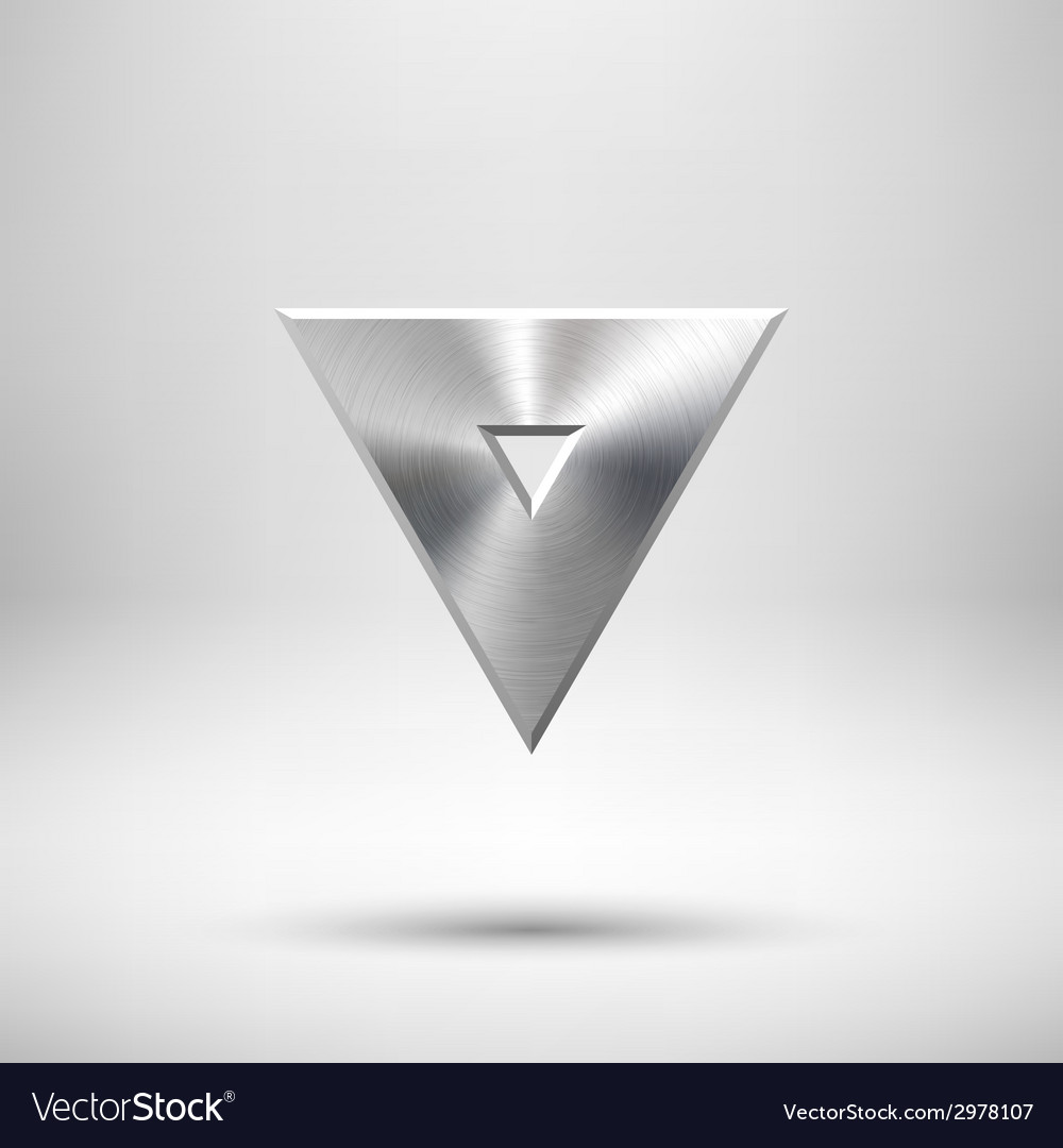 Abstract triangle button template vector | Price: 1 Credit (USD $1)