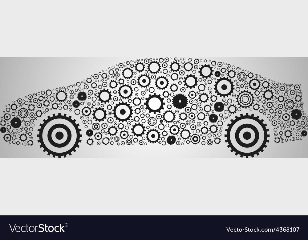Car gear abstract wallpaper vector | Price: 1 Credit (USD $1)