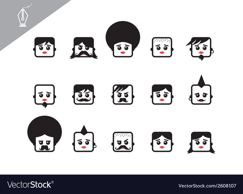 Character face vector | Price: 1 Credit (USD $1)