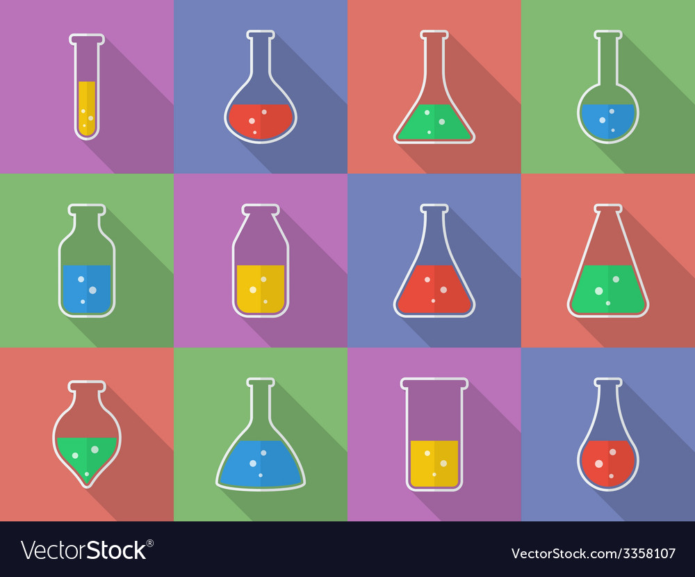 Chemical biological science laboratory equipment - vector | Price: 1 Credit (USD $1)