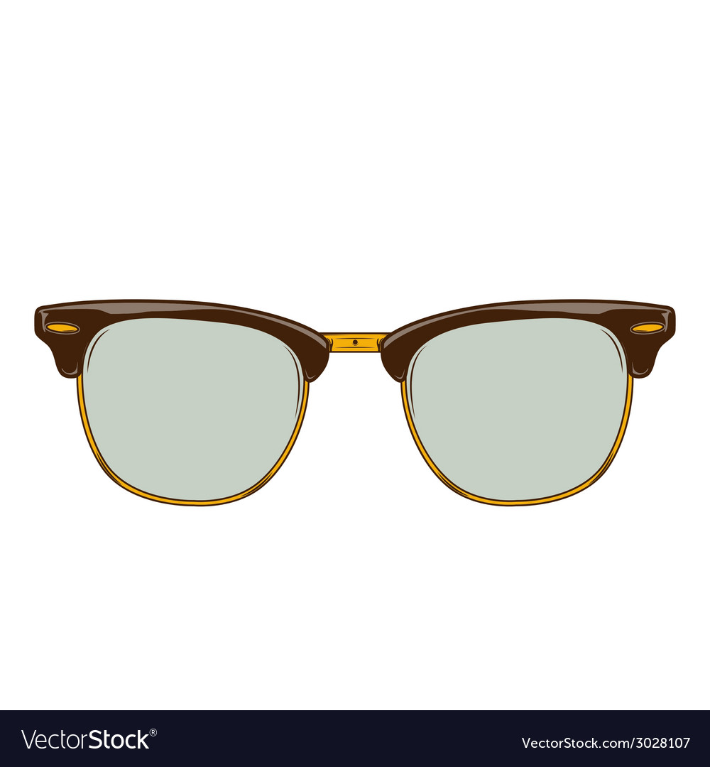 Classic brown sunglasses clubmaster vector | Price: 1 Credit (USD $1)