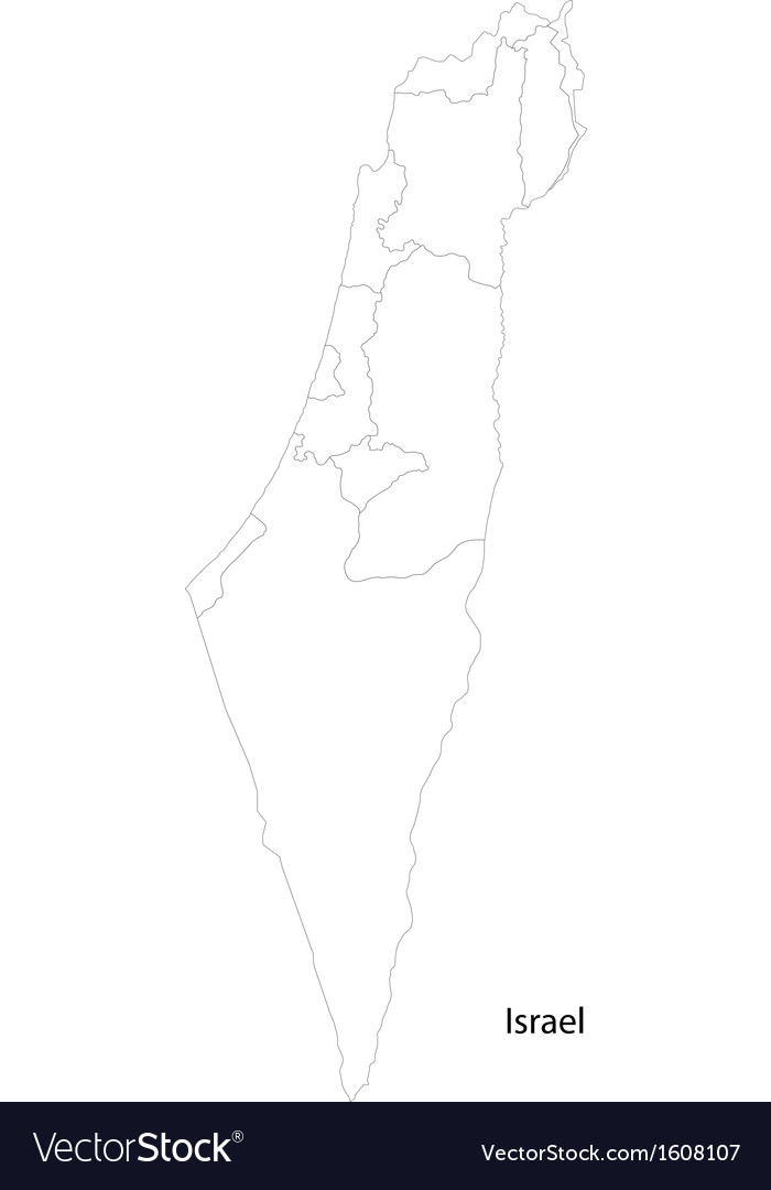 Contour israel map vector | Price: 1 Credit (USD $1)