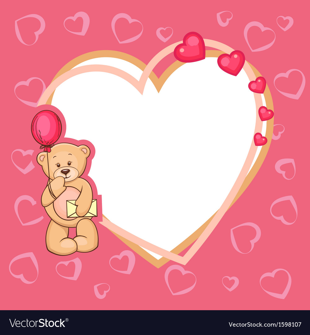 Cute valentine teddy bear vector | Price: 1 Credit (USD $1)