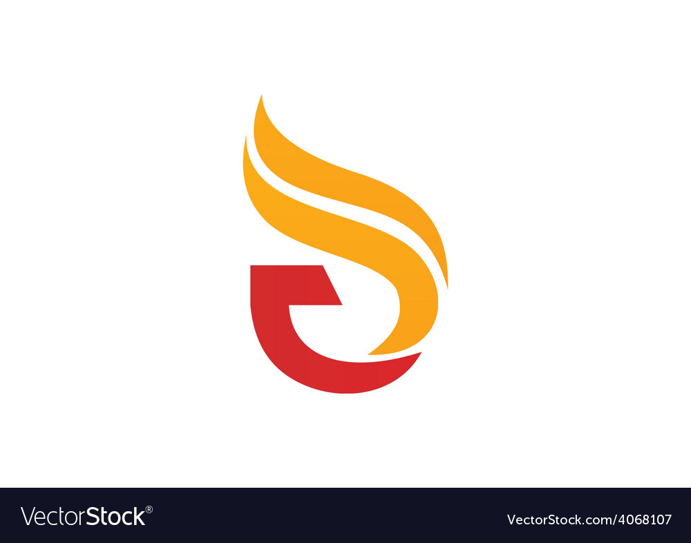 Fire abstract initial logo vector | Price: 1 Credit (USD $1)