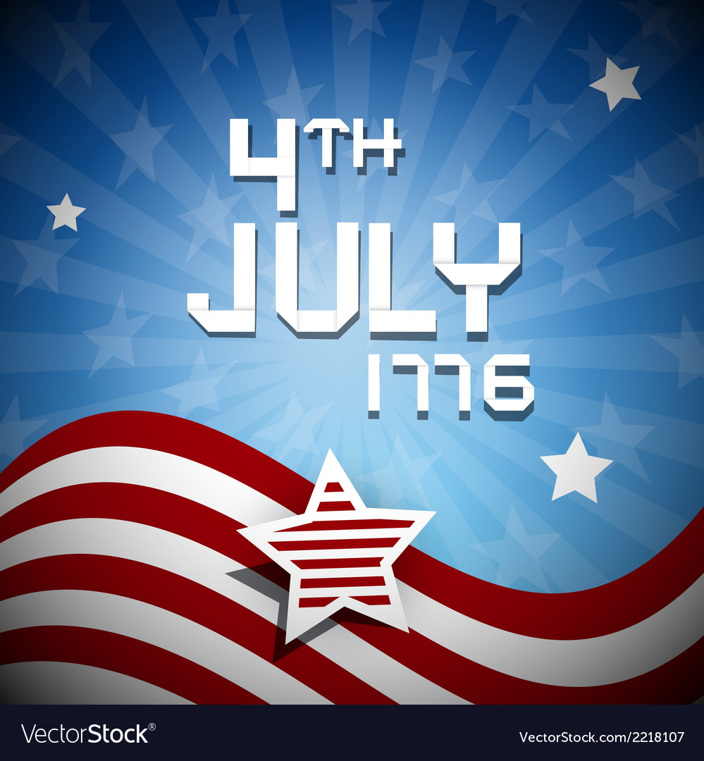Fourth of july 1776 independence day vector | Price: 1 Credit (USD $1)