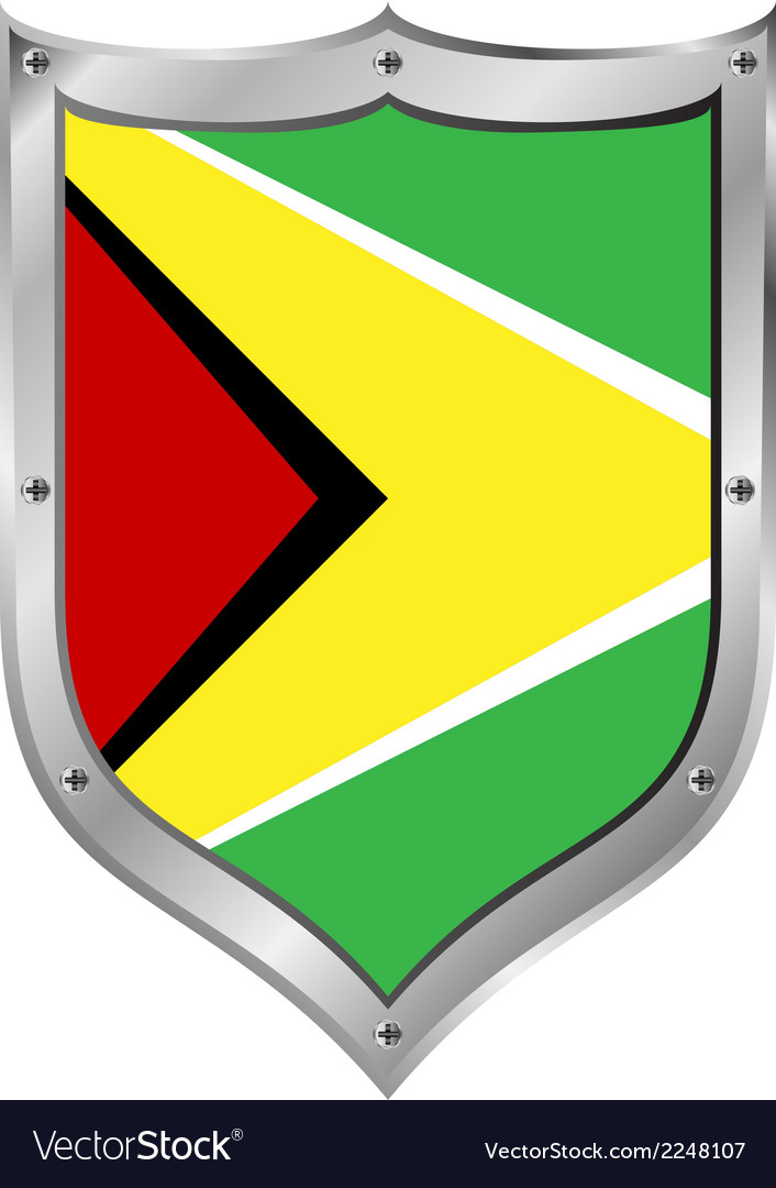 Guyana flag button vector | Price: 1 Credit (USD $1)