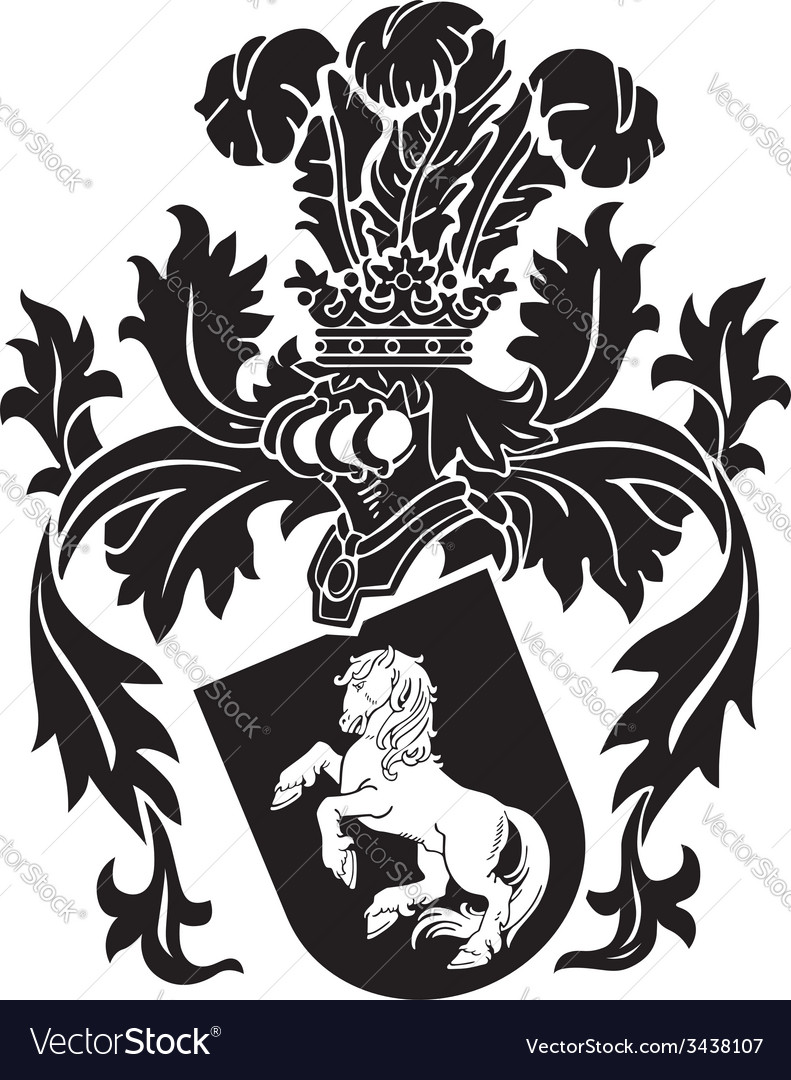 Heraldic silhouette no9 vector | Price: 1 Credit (USD $1)