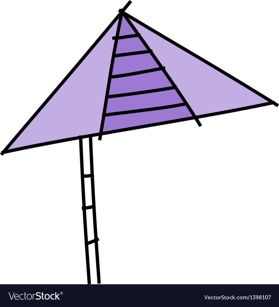 Icon parasol vector | Price: 1 Credit (USD $1)