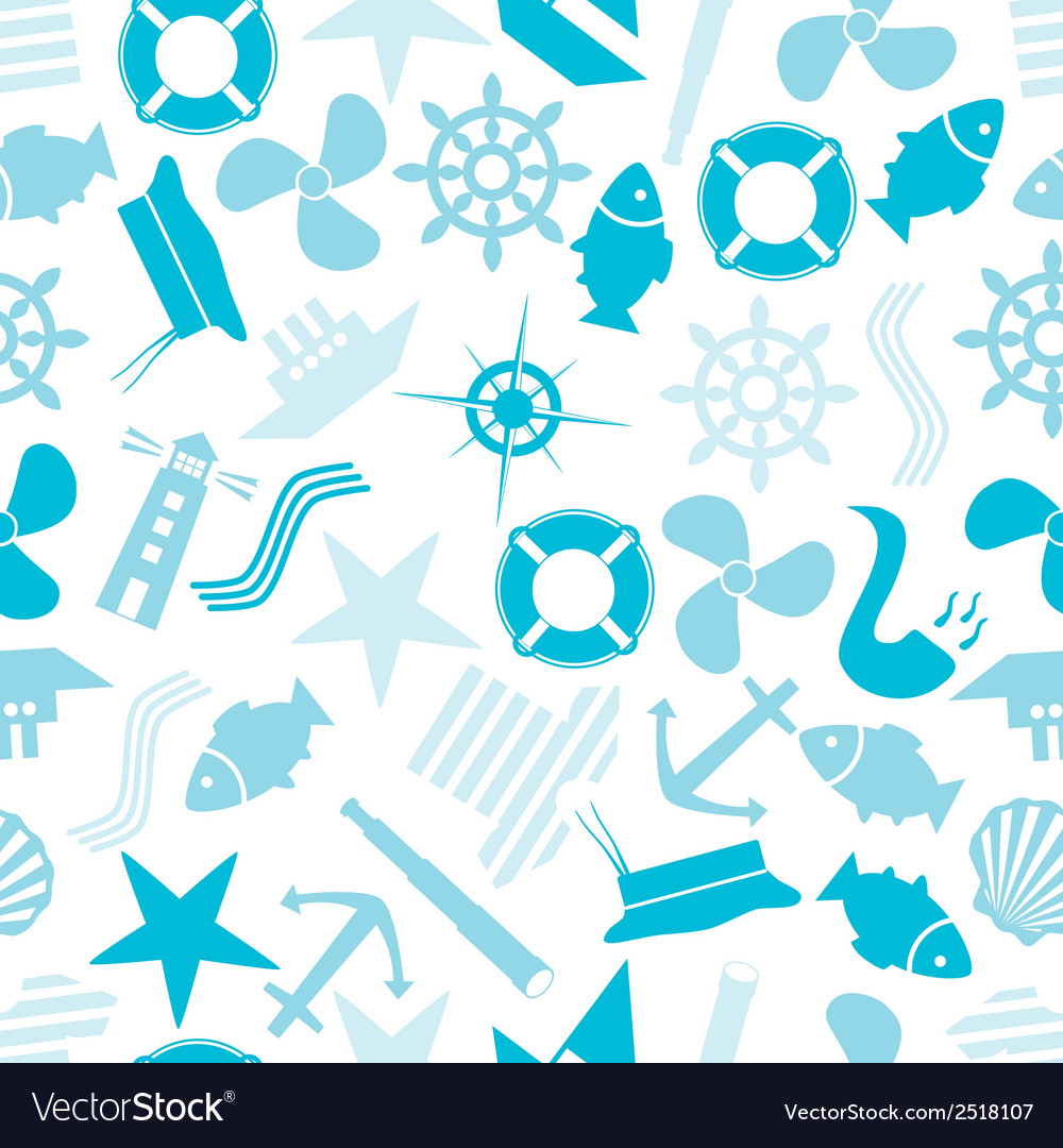 Nautical icon color pattern eps10 vector | Price: 1 Credit (USD $1)
