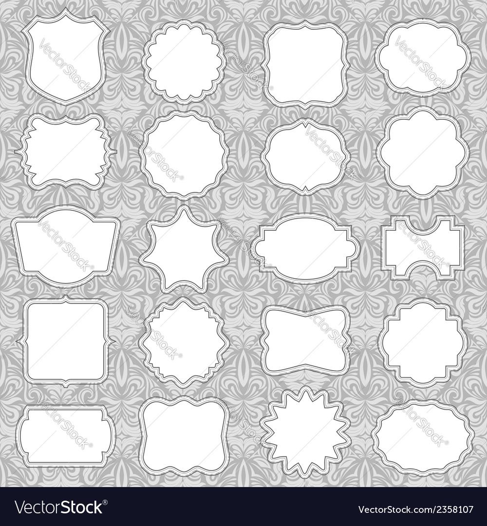 Ornate label frames vector | Price: 1 Credit (USD $1)