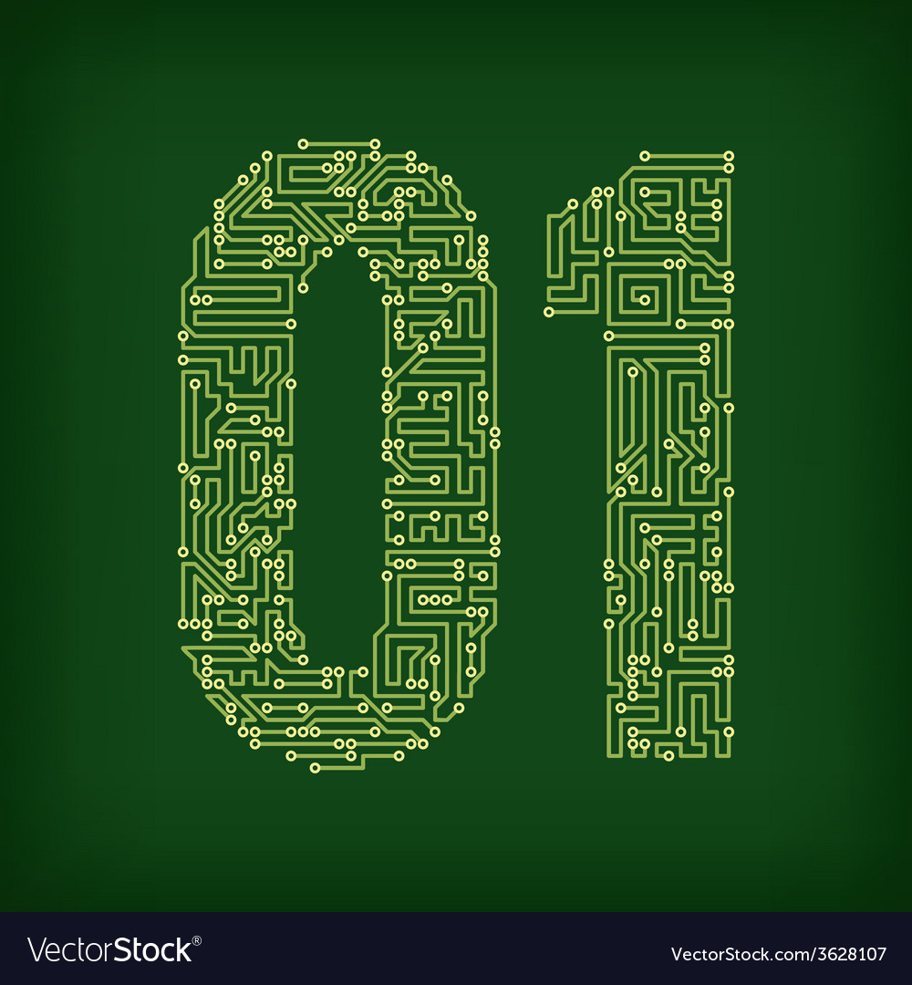Pcb letter and digits vector | Price: 1 Credit (USD $1)