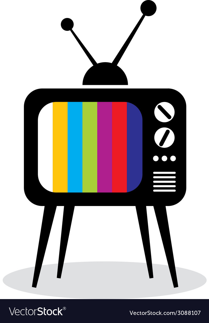 Retro tv set icon vector | Price: 1 Credit (USD $1)