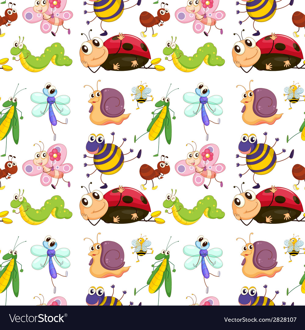 Seamless insects vector | Price: 1 Credit (USD $1)