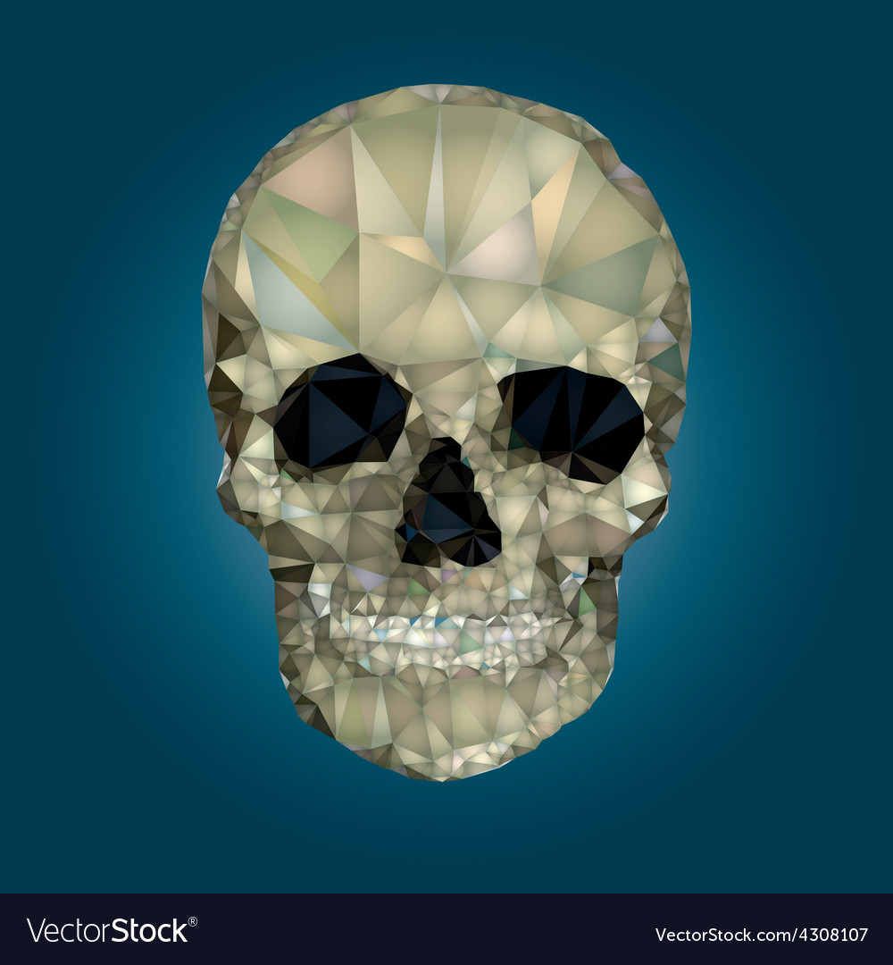 Skull low poly crystal vector | Price: 1 Credit (USD $1)