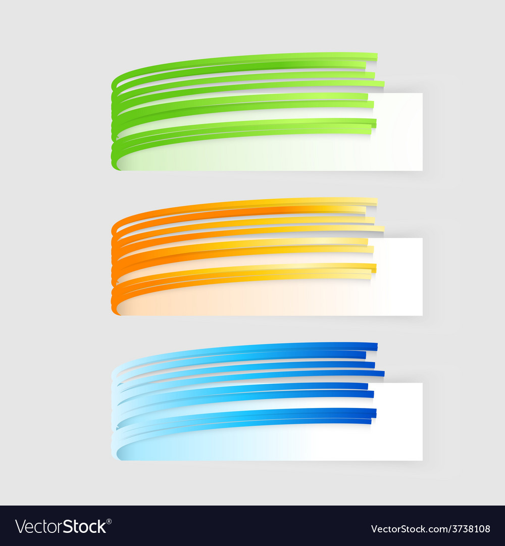Banners set modern spiral banner vector | Price: 1 Credit (USD $1)