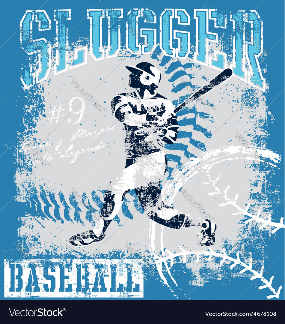 Baseball slugger vector | Price: 1 Credit (USD $1)