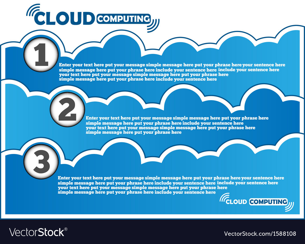 Cloud computing background vector | Price: 1 Credit (USD $1)