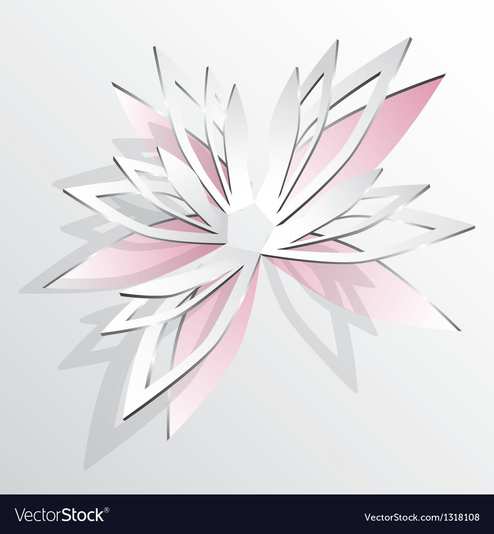 Flower cut out of paper vector | Price: 1 Credit (USD $1)