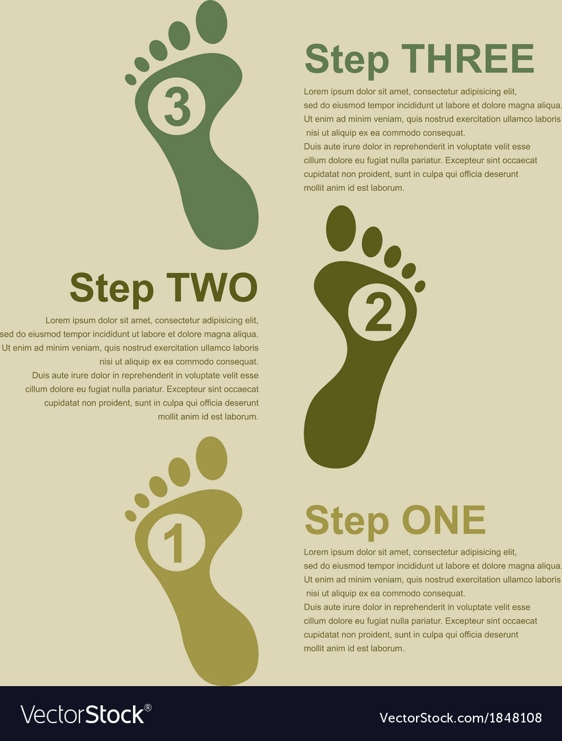 Footsteps infographic vector | Price: 1 Credit (USD $1)