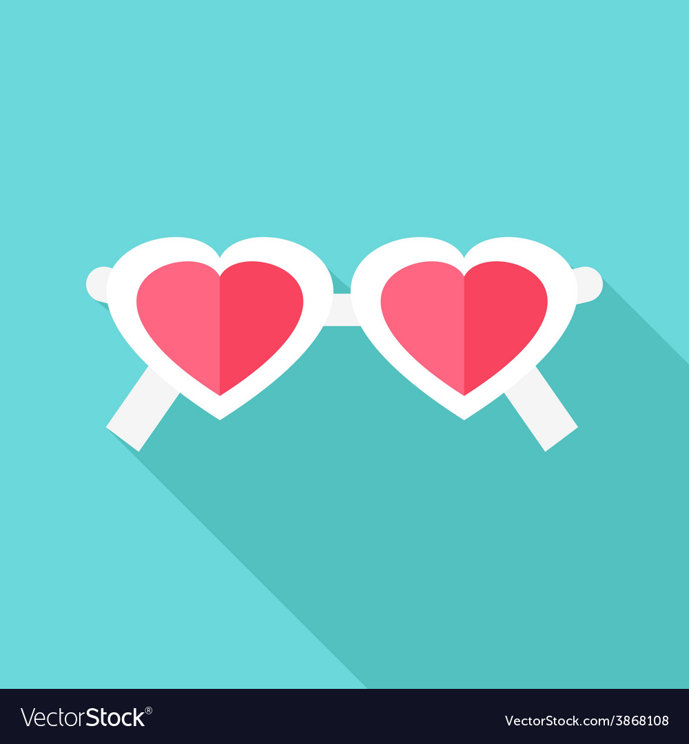 Heart shaped glasses vector | Price: 1 Credit (USD $1)