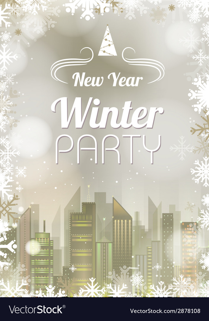 New year poster abstract holiday christmas golden vector | Price: 1 Credit (USD $1)