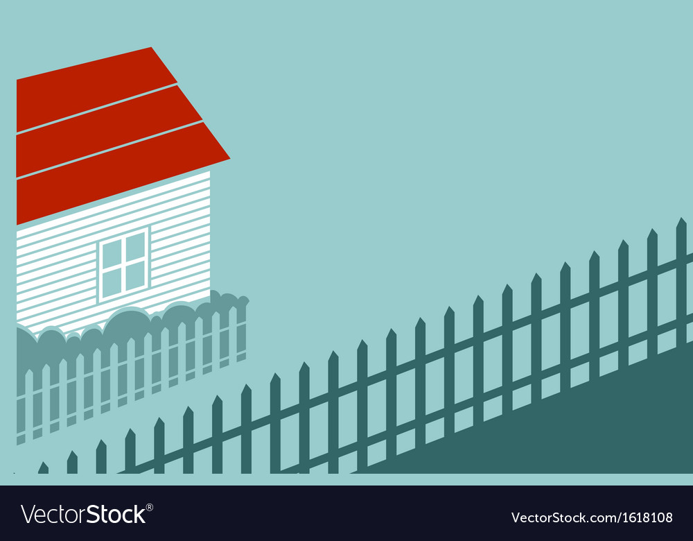 Private house in the country vector | Price: 1 Credit (USD $1)