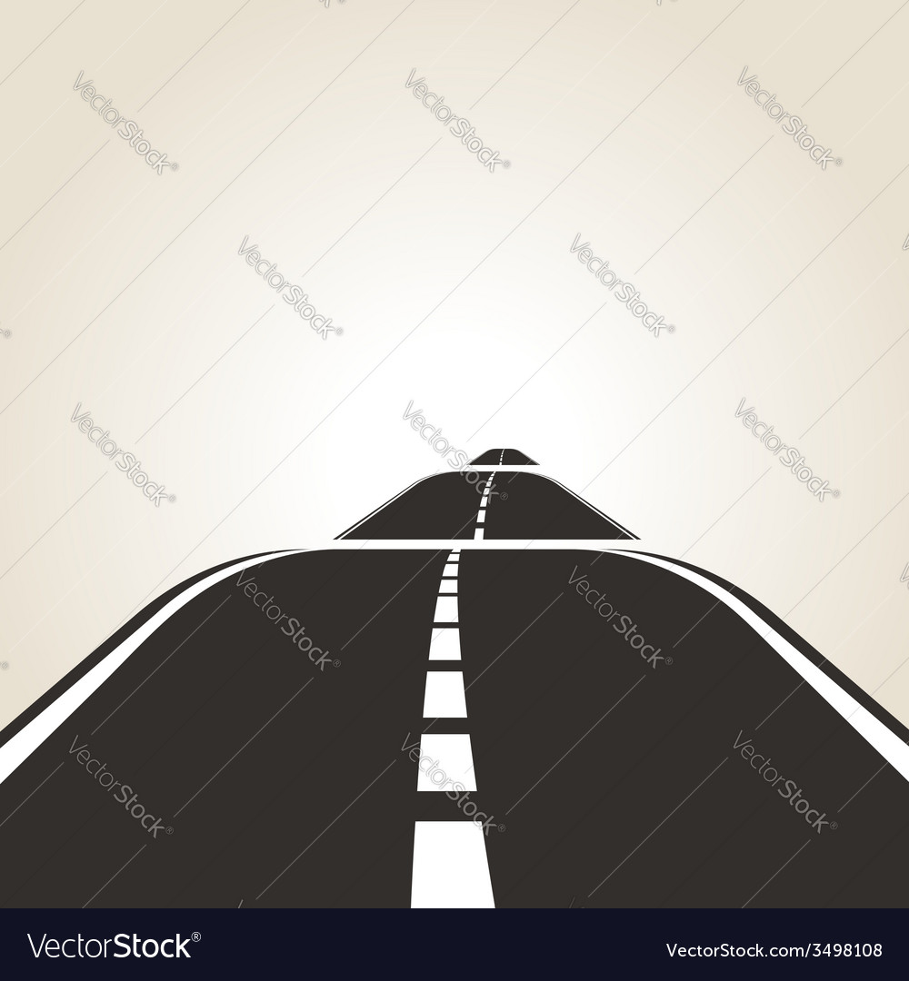 Symbol of the road vector | Price: 1 Credit (USD $1)