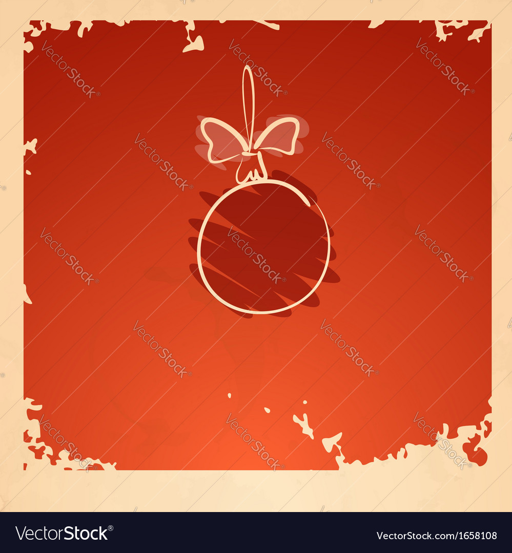 Vintage christmas ball vector | Price: 1 Credit (USD $1)