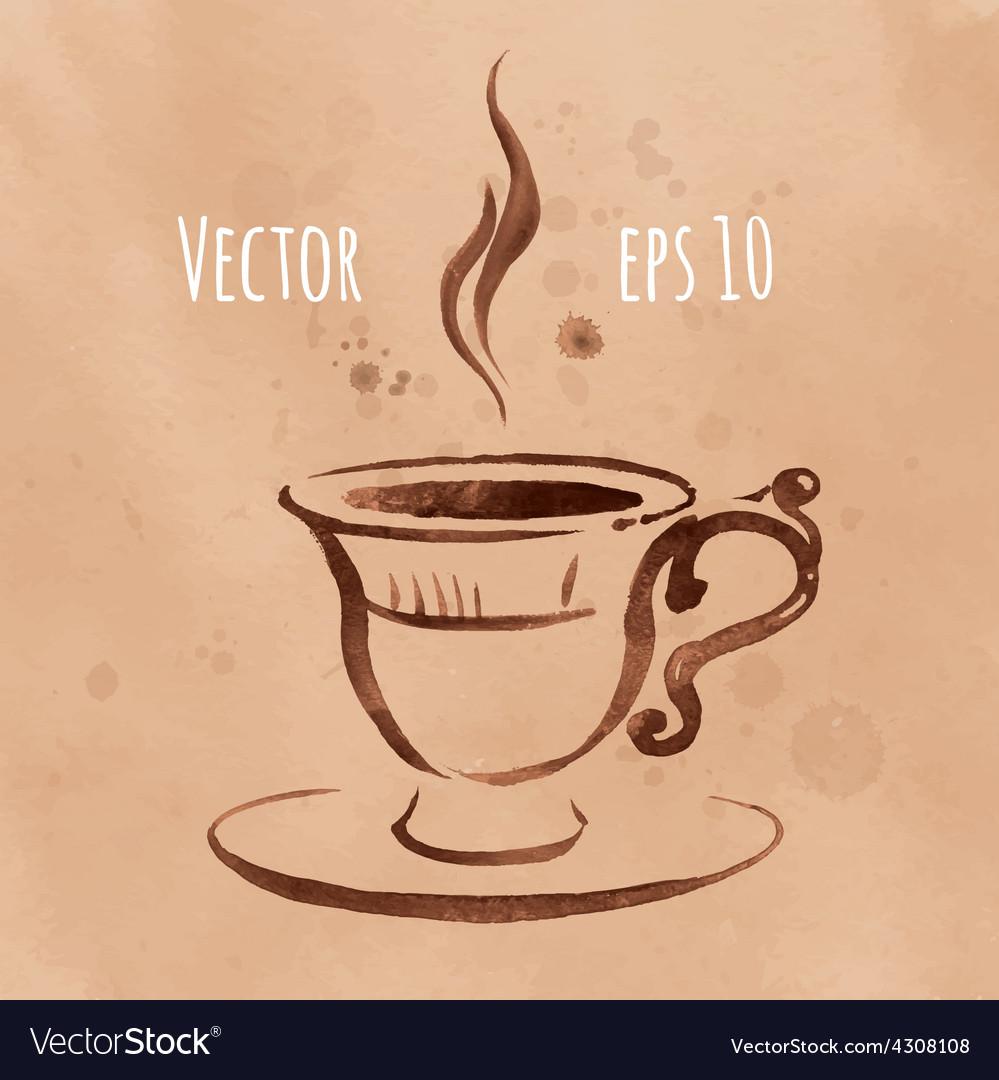 Watercolor sketch vector | Price: 1 Credit (USD $1)