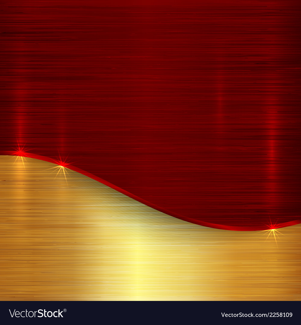 Abstract cherry red and gold metallic background vector | Price: 1 Credit (USD $1)