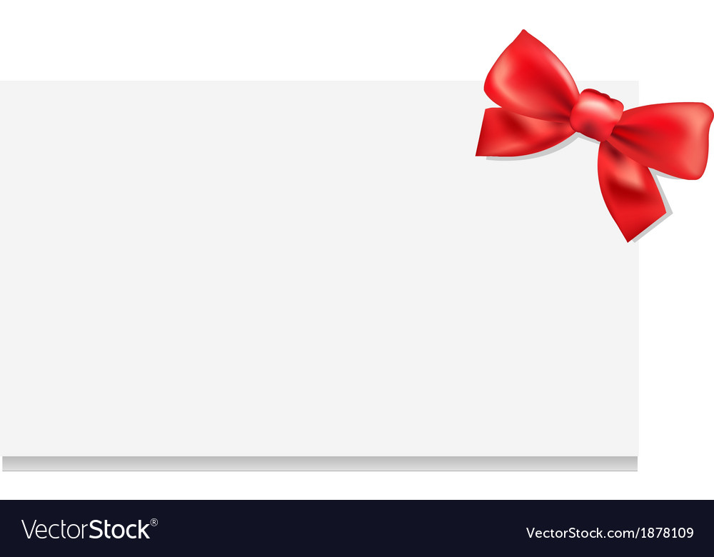 Blank gift tag with bow vector   Price: 1 Credit (USD $1)