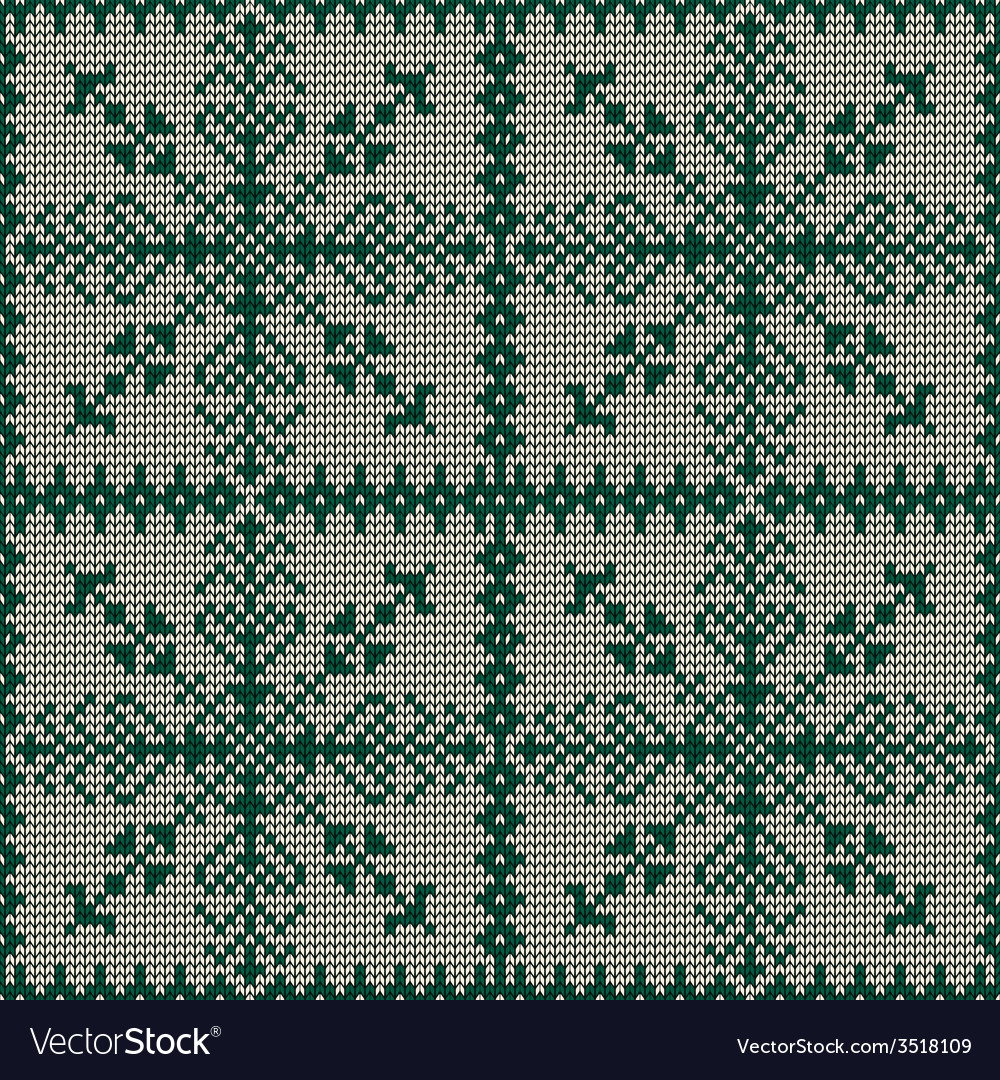 Christmas seamless knitted background vector   Price: 1 Credit (USD $1)