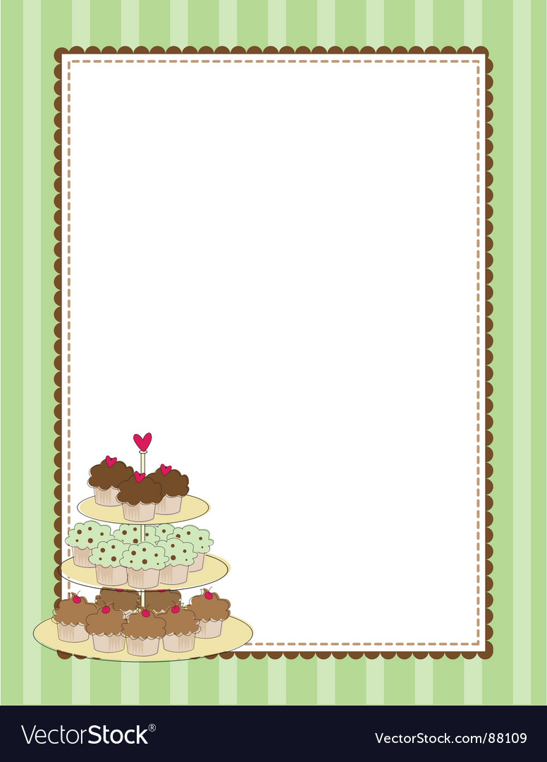 Cupcake border vector | Price: 1 Credit (USD $1)