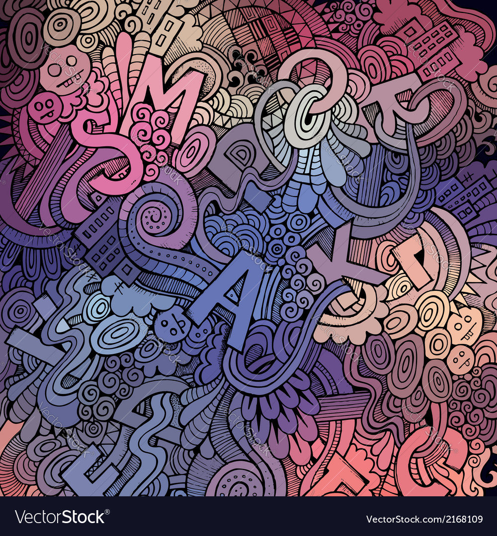 Letters abstract decorative doodles background vector | Price: 1 Credit (USD $1)