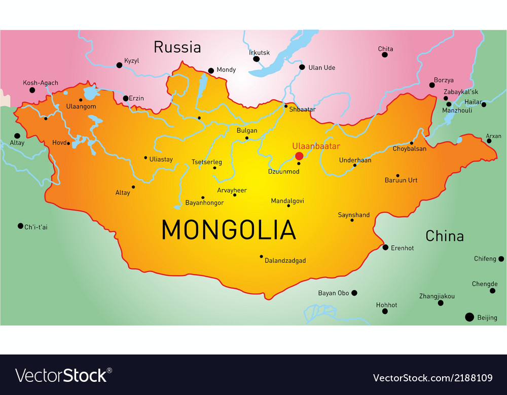 Mongolia vector | Price: 1 Credit (USD $1)