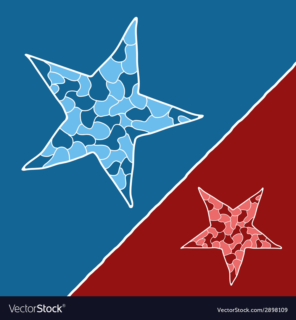 Mosaic doodle star vector | Price: 1 Credit (USD $1)