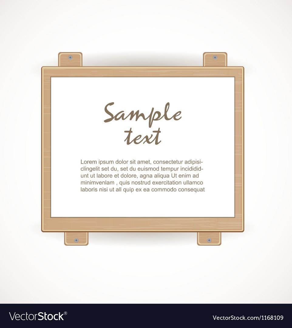 Wooden signboard vector | Price: 1 Credit (USD $1)