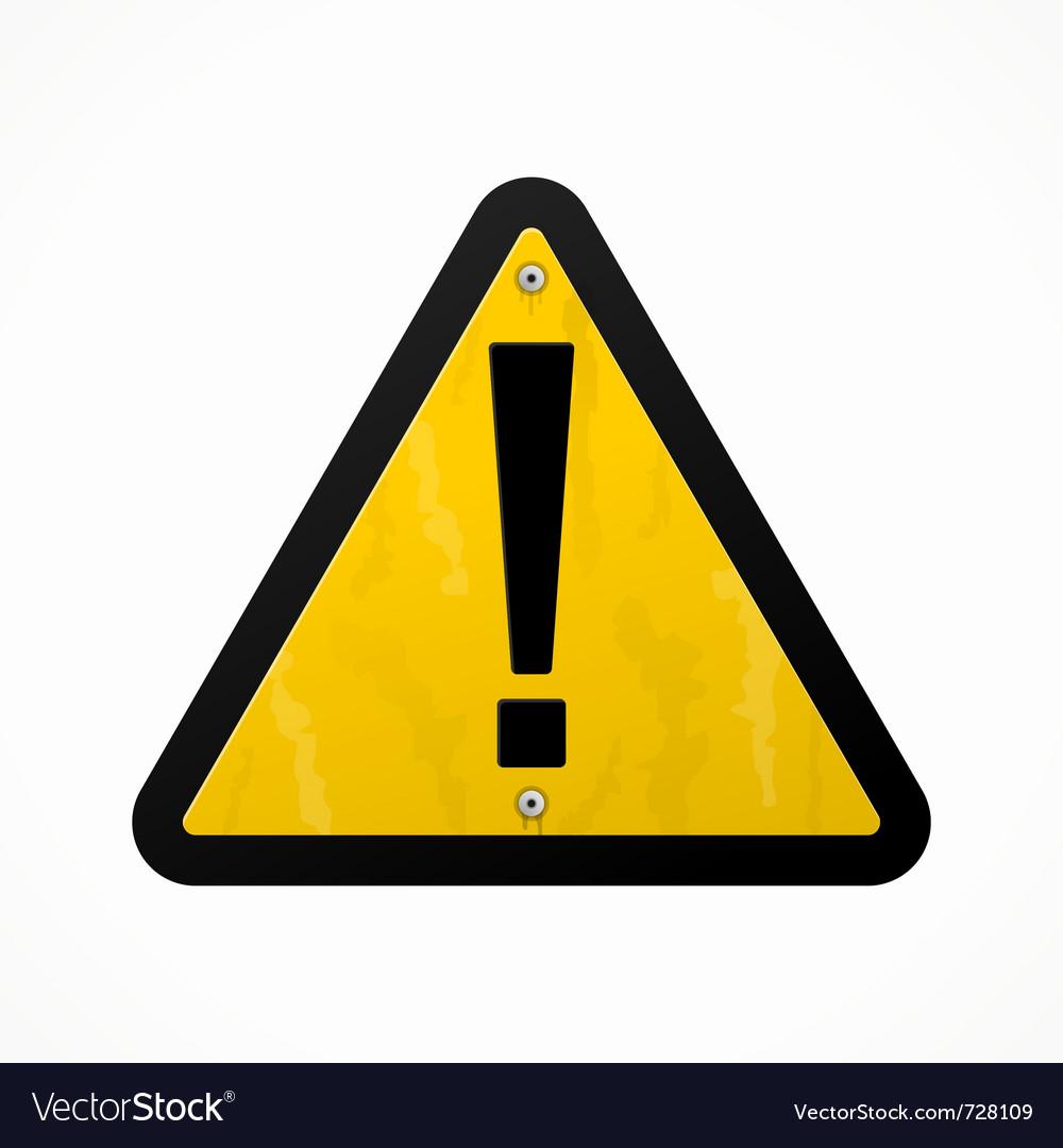 Yellow danger sign vector | Price: 1 Credit (USD $1)