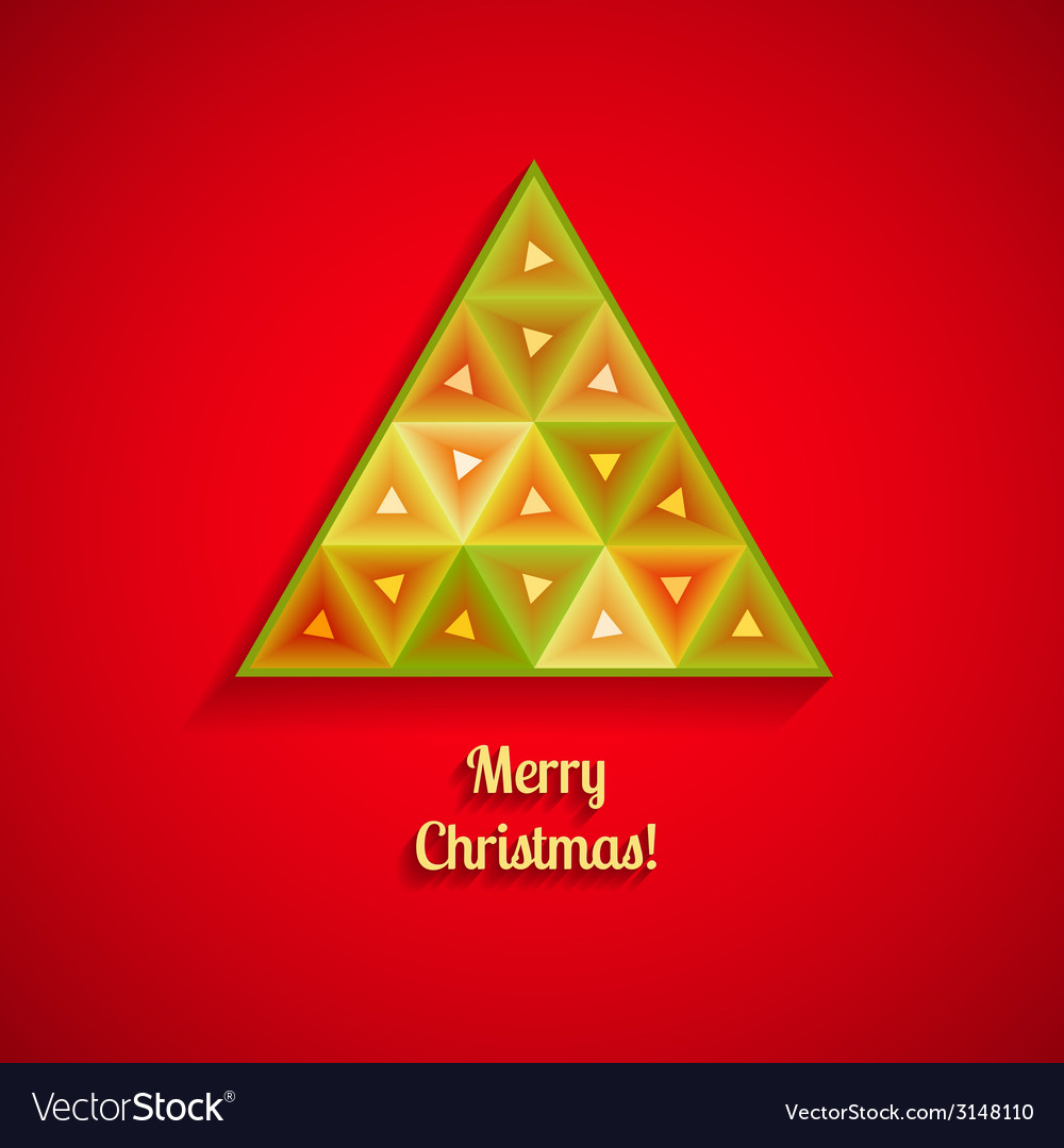 Abstract christmas tree from triangles vector | Price: 1 Credit (USD $1)