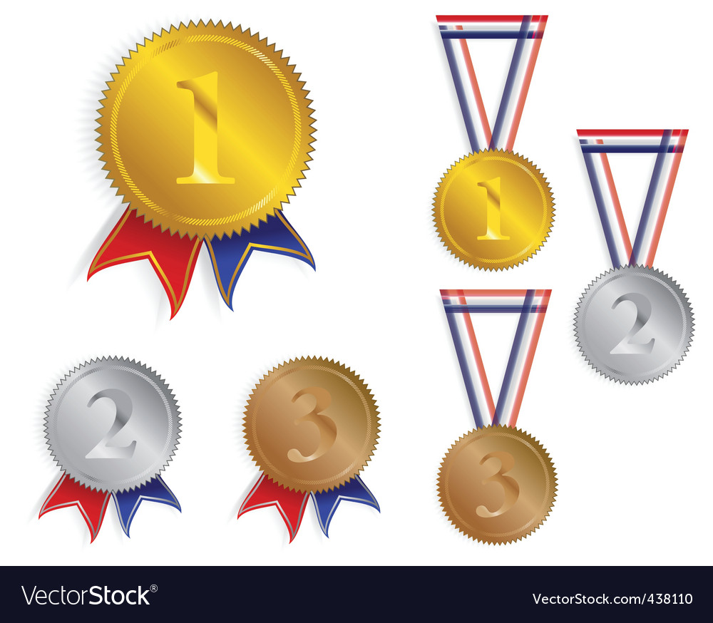Award medals ribbons vector | Price: 1 Credit (USD $1)