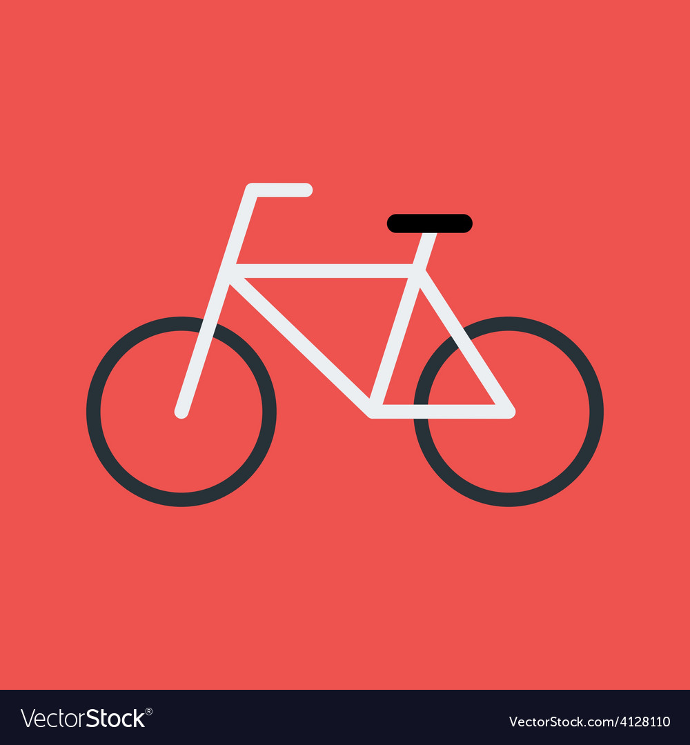 Bicycle flat stylized sign vector | Price: 1 Credit (USD $1)